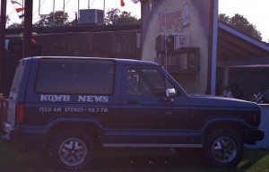AM Stereo was so cool at one point, it was bragged about on the station truck!